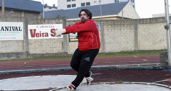 Javier Cid, atleta do Adas, subcampión de Europa máster en martelo