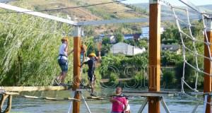 Parque de aventuras e rocódromo en Viana do Bolo, na Semana Santa