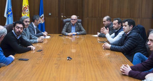 A Deputación e o Concello de Vilamartín chegan a un acordo para mellorar a situación da estrada de San Vicente