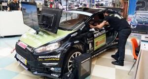 O coche simulador do mundial de RallyCross de Montealegre estará no CC Ponte Vella ata o 26 de abril