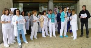 Mobilización no Barco en defensa da carreira profesional do persoal do Sergas