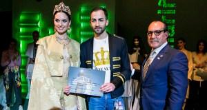 Jorge Álvarez faise co 1º premio no Concurso de Xoves Deseñadores da Mostra do Encaixe de Camariñas