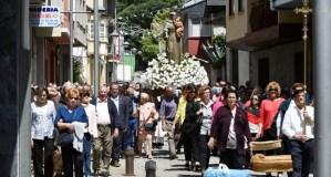 A tradicional procesión de San Antón abre cinco días de festas en Fontei (A Rúa)