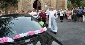 Bendición e procesión de San Cristóbal pola Rúa e Petín