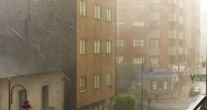 Aviso amarelo por chuvias e tormentas na provincia de Ourense