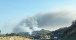 Estabilizado o incendio de Vilaza (Monterrei), que supera as 100 hectáreas