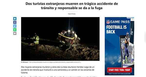 Falecen dúas veciñas da Rúa nun accidente de tráfico en Chile