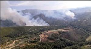 Dous incendios forestais na Gudiña