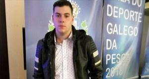 Un membro da Sociedade de Pesca Fluvial Valdeorras, galardoado pola Federación Galega de Pesca e Casting