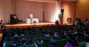 O pianista trivés Fabio Álvarez celebra o día da patroa dos músicos cos alumnos de Trives e Manzaneda