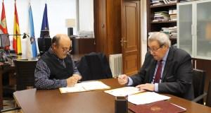 """Asínase o convenio entre CHMS e o Concello de Cortegada para a execución do proxecto """"Raia Termal"""""""