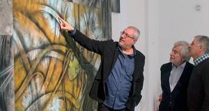 O artista Alberto Pena expón no Centro Cultural Marcos Valcárcel de Ourense