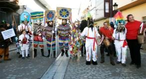 As máscaras fanse donas de Viana do Bolo