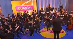 """As melodías da Banda de Música do Barco, no """"Aquí Galicia"""""""
