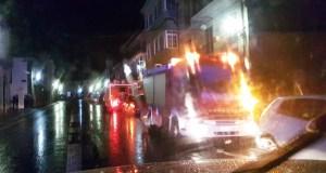 Incendio nunha vivenda no casco urbano de Trives