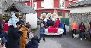 Melchor, Gaspar e Baltasar, na vila de Manzaneda