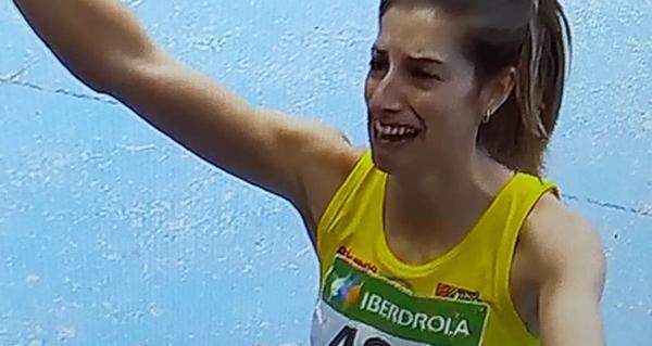 A valdeorresa Leticia Gil, ouro en lonxitude no campionato de España absoluto