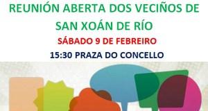 Reunión aberta dos veciños de Río para valorar a decisión do alcalde de cambiar de partido
