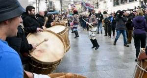 Lardeiros, rondas de folións e festa do cabrito no Entroido de Vilariño de Conso