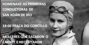 Homenaxe ás primeiras condutoras de San Xoán de Río o 8-M