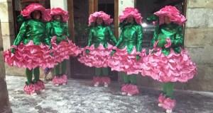 """As """"Rosas do Entroido"""", premiadas no concurso vianés de disfraces do Martes de Entroido"""
