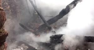 Arde por completo unha vivenda en Tremiñá (O Barco)