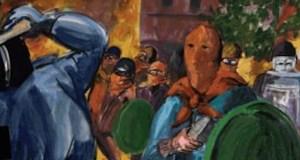 O relato pictórico do maio do 68 do barquense Jesús Díaz recala en Ourense