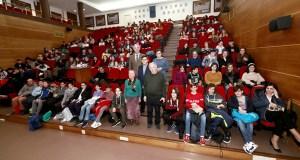 Os alumnos de 3º da ESO do IES Lauro Olmo do Barco recollen o seu premio na final galega do Rally Matemático