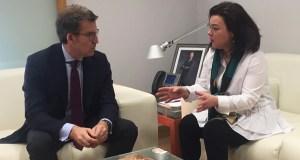 A candidata do PP do Barco reuníase co presidente da Xunta