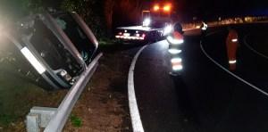 Unha persoa resulta ferida nun accidente de tráfico na OU-536 en Trives