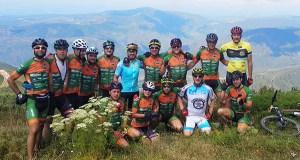 Unha vintena de bikers coroan o Pía Paxaro en terras de Quiroga