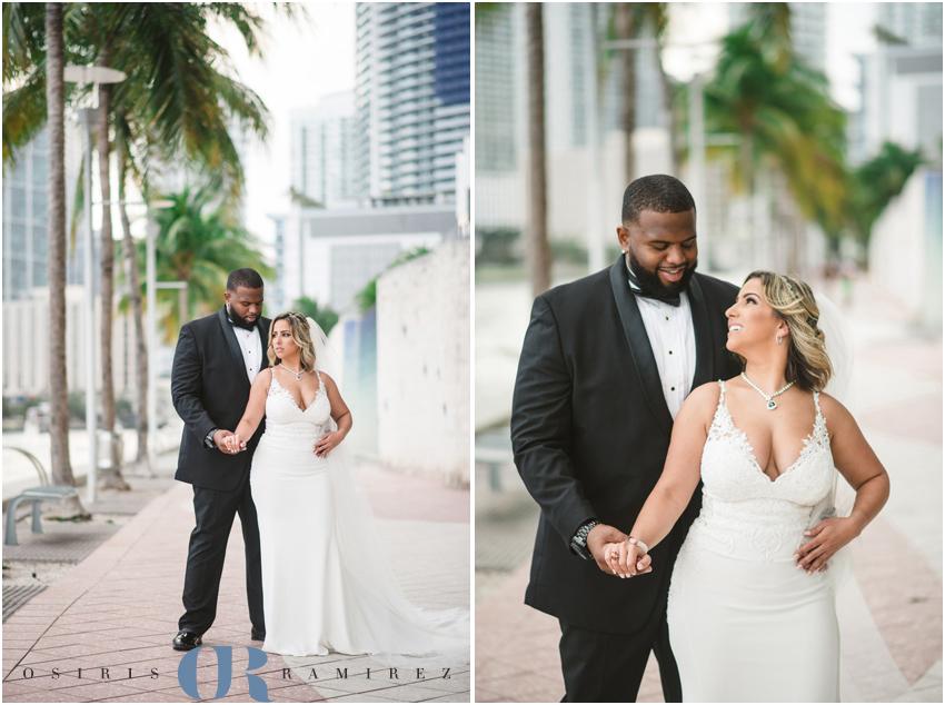 dowtown miami wedding photography