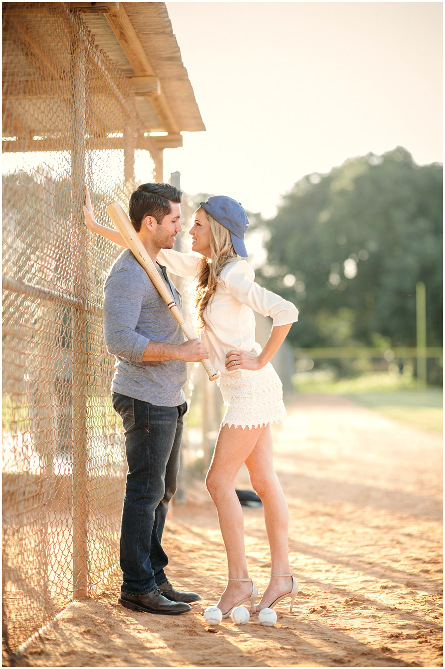 baseball theme engagement photos miami