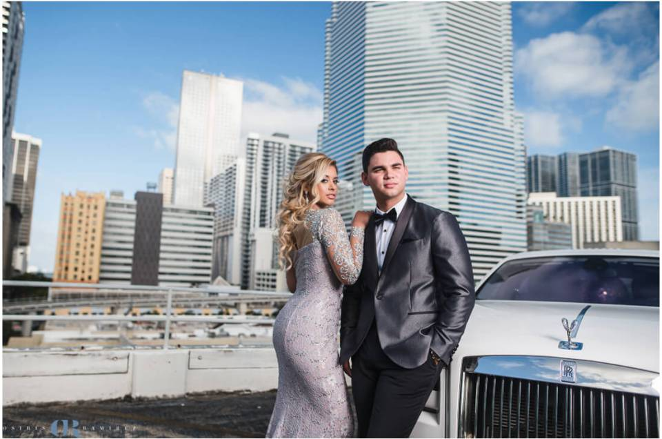 Miami City Skyline Prom Photos | Miami Photographer