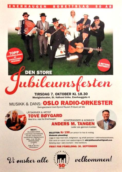 Plakat for konsert på Enerhaugen