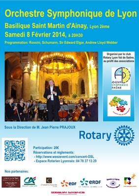 Concert de l'OSL le 8 Février 2014 à Ainay