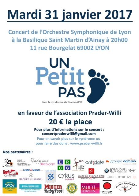 Concert de l'OSL pour Prader-Willi 31/01/2017