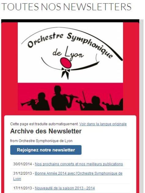 Toutes les newsletters de l'OSL