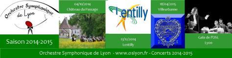 Orchestre Symphonique Lyon Concerts 2014-2015
