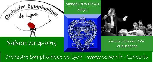 Ne manquez pas notre prochain concert exceptionnel le 18 Avril 2015 !