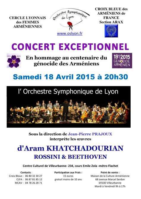 Concert de l'OSL pour le centenaire du Génocide Arménien