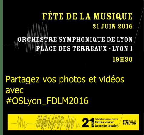 Partagez vos photos et vidéos avec #OSLyon_FDLM2016