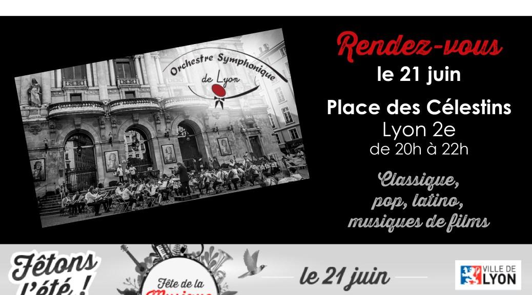bandeau Fête de la Musique 2018 OSL Place des Celestins