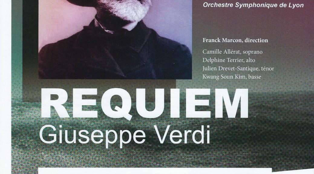 Concert Requiem de Verdi Lyon Vaise 9 février 2020