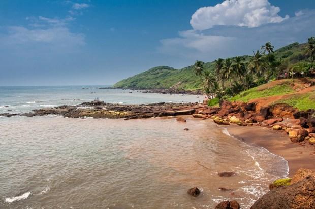 O mar arábico que banha o estado de Goa...