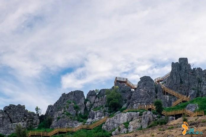 Os novos passadiços do Orvalho permitem aceder ao Miradouro do Mosqueiro