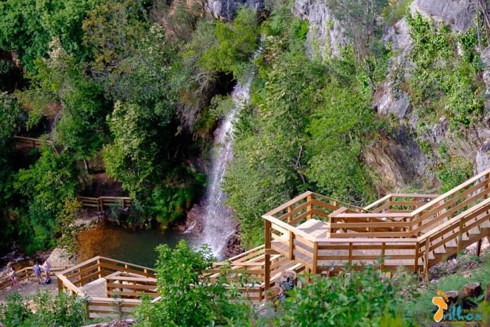 Cascata da Fraga de Água d'Alta nos Passadiços do Orvalho