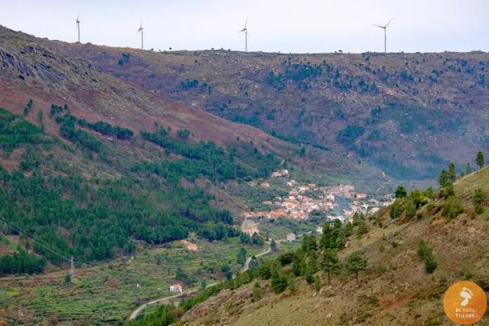 O vale do Mondego, visto do Miradouro do Mocho Real