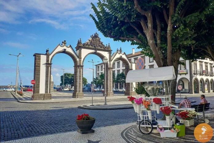 As Portas da Cidade de Ponta Delgada, na Ilha de São Miguel, nos Açores.