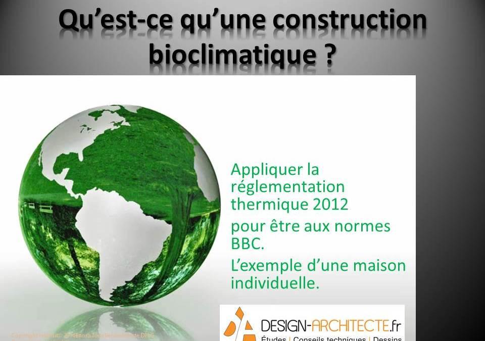 Conférence la maison bioclimatique